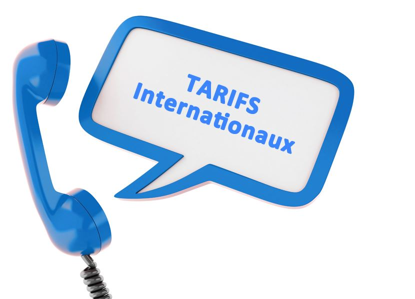 Tarifs internationaux
